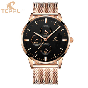 Stainless Steel 316l Genuine Leather Strap Custom Watches Men