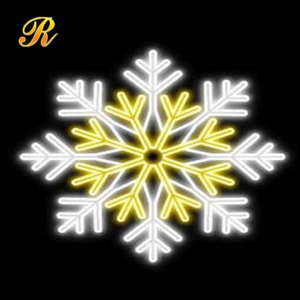 Fashion Christmas decorative led snowflakes light hanging ornament