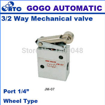 GOGO 3 way air Manual Mechanical control valve hand valve pneumatic 1/4 inch JM-07 wheel type with roller button