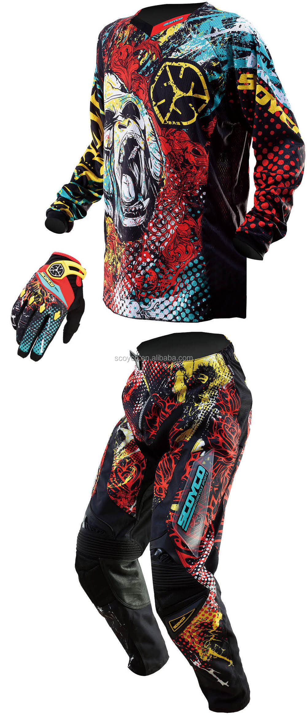 Motorcross Sports Jersey T119 Offroad Racing Competition MX Team Design