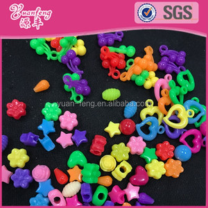 Multi shape cute plastic pony beads hair beads for kids braids accessories