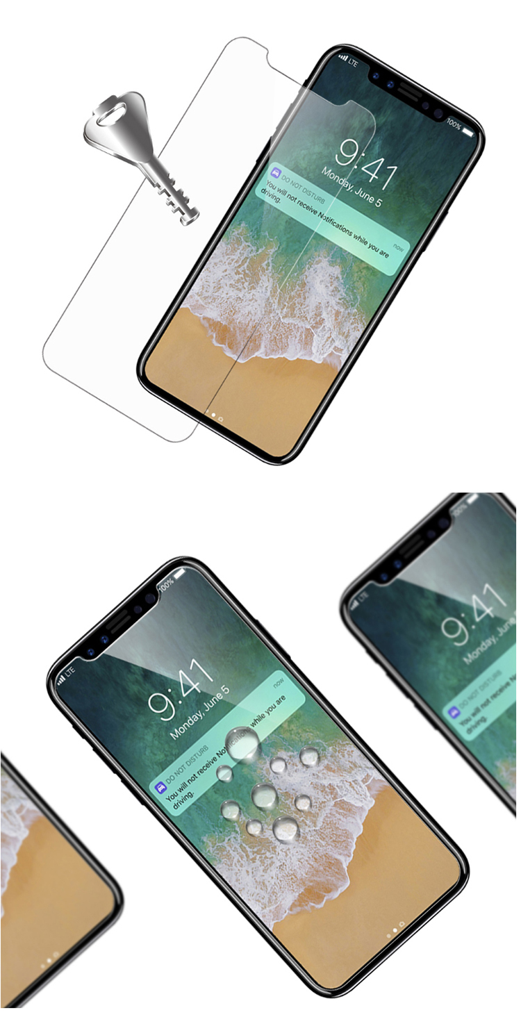 High Clear Phone Tempered Glass Screen Protector For Iphone X 9H Tempered Glass Film For Iphone X Screen Protector