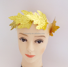2017 party supplies funny Gold Maple Leaves Headband