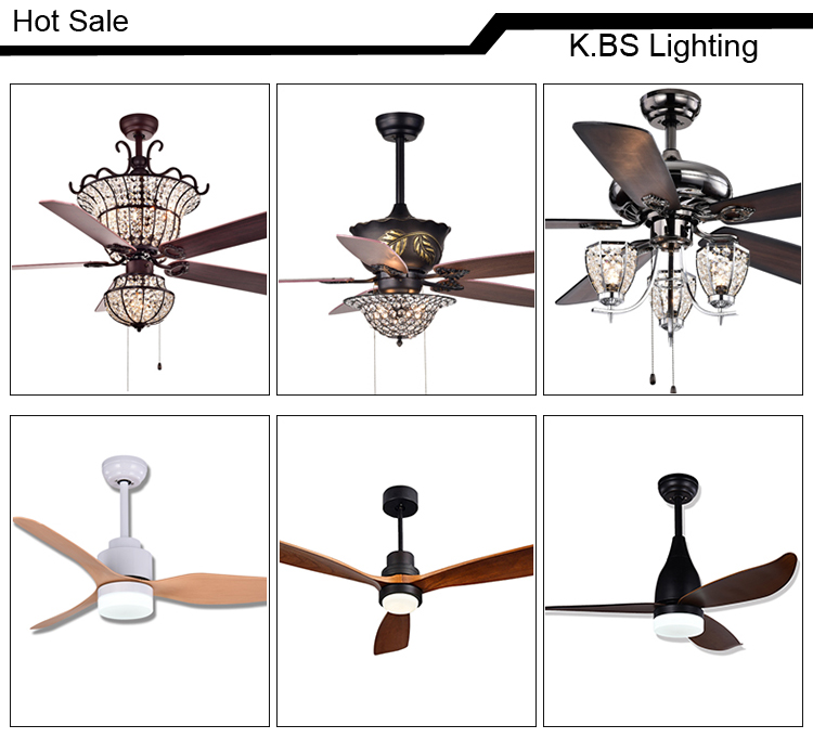 Crystal Ceiling Fan With Light Remote Control 5 Blades Decorative American Style