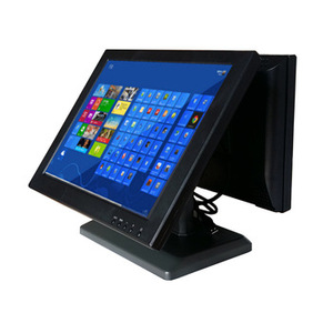 Commercial 15 inch lcd dual touch screen monitor for car kits 4:3 resolution 1024X768 VGA audio video input