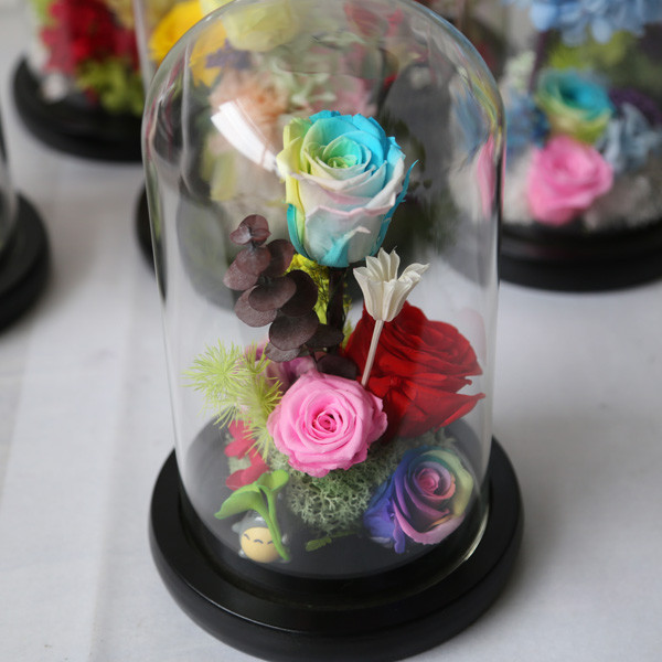 White,Blue,Red,Black,Yellow,Pink,Purple,Orange Color and Fresh Cut Flowers Processing Type big glass rose