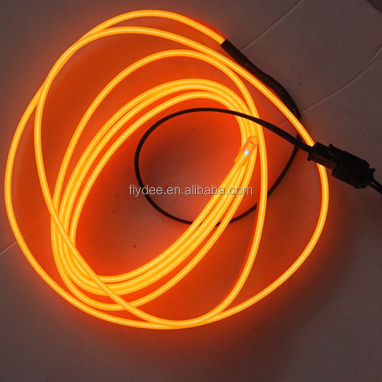 Dia 2.3MM 6MM Sideline edge Neon Glowing Strobing Electroluminescent Wire El Wire multi color