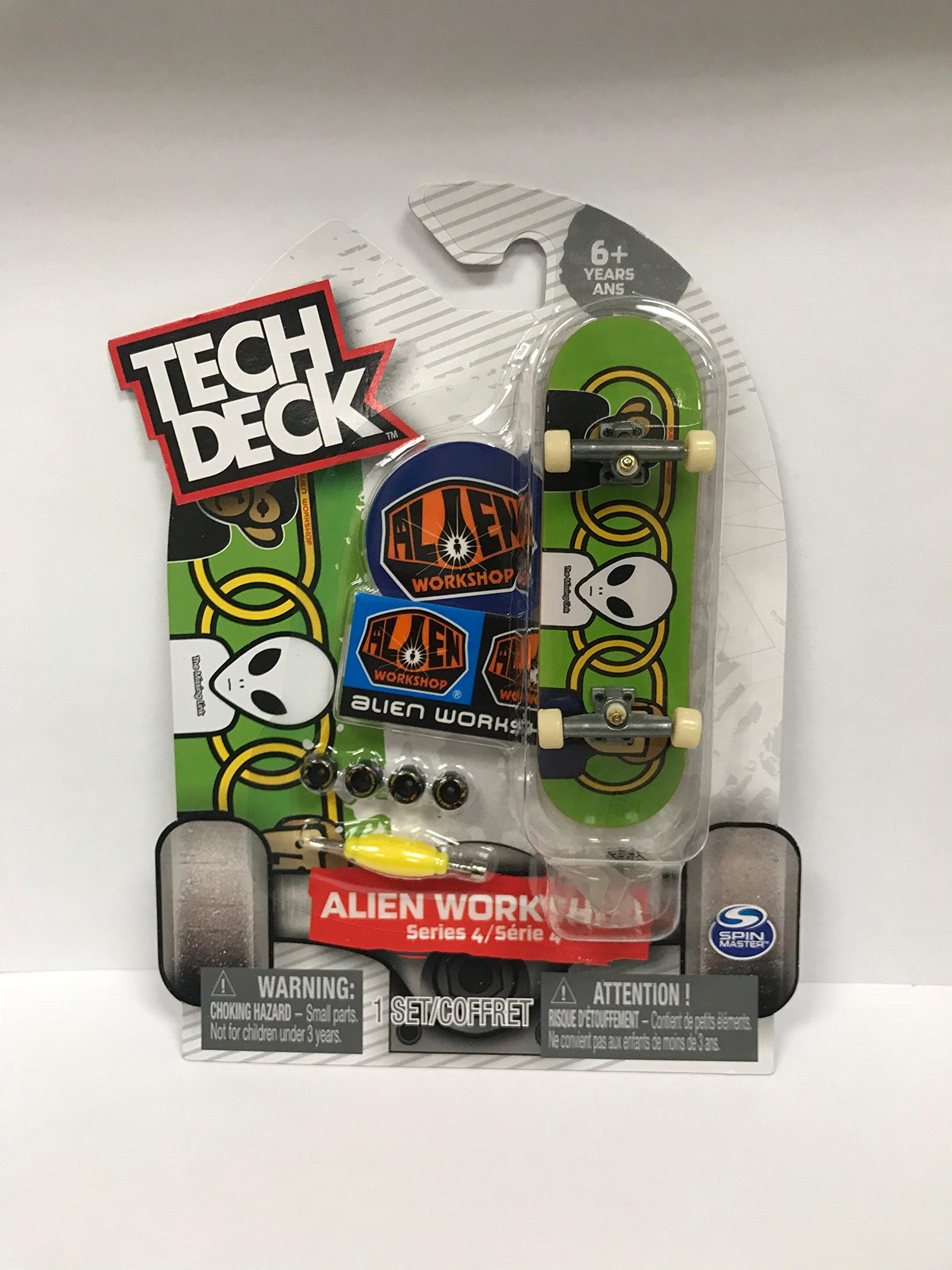 Tech Deck Series 4 Alien Workshop Green Fingerboard Deck