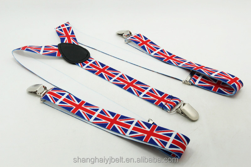 Custom printing flag suspenders , mens jeans trousers