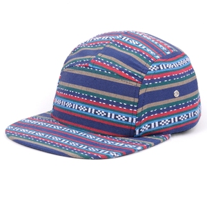 Most popular no logo 5 panel caps 100 cotton flat brim caps