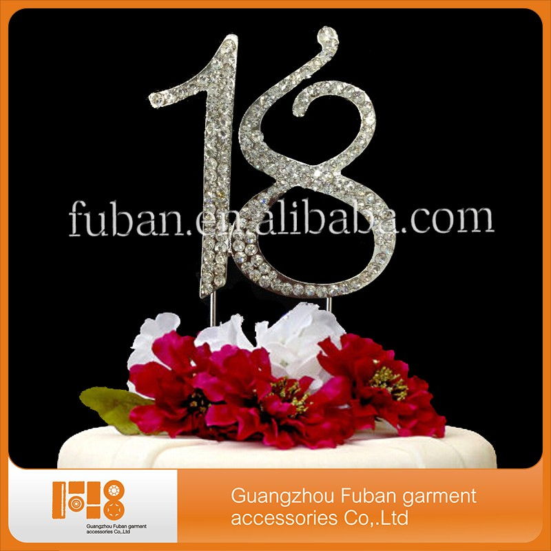 7CM 18TH BIRTHDAY RHINESTONE DIAMANTE CAKE TOPPER PICK NUMBER TOPPERS DECORATION 18