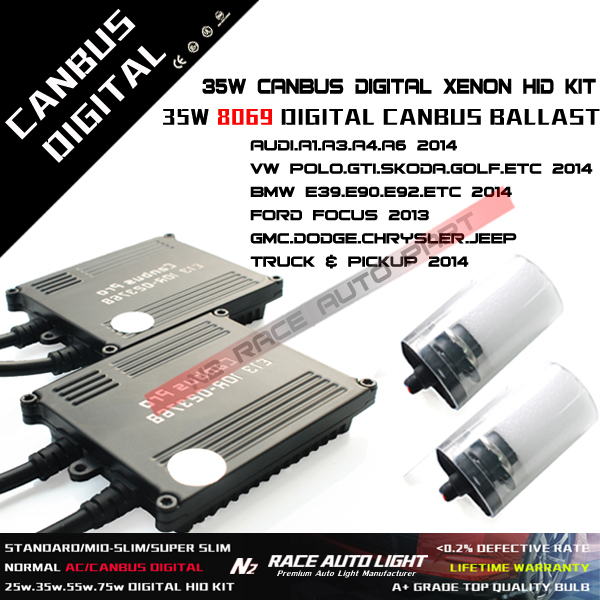 Lifetime warranty Best quality super slim h7 canbus pro hid ballast a8 35w