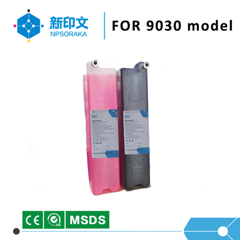 Low price liquid printing inket for 9030 model black compatible solvent based printing ink