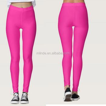 Leggings De Gymnastique Femmes Pleine Longueur Couleur Rose Solide Taille Haute Minceur Extensible Pantalon Athlétique Collants Super Doux Leggings