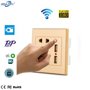 New 2018 Products HD Wireless 1080P SD/TF Card Best Wall Socket Hidden WIFI Spy CCTV Camera Mini USB Small Charger Camera