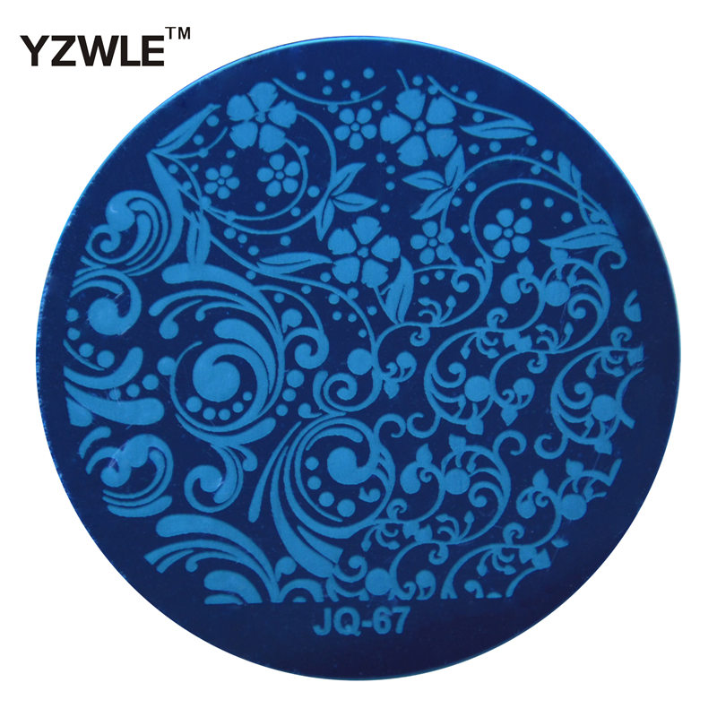 YZWLE 1 Pcs Stainless Steel Plate Image Stamp Stamping Plates DIY Manicure Template Nail Polish Tools