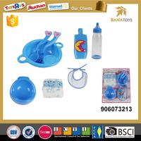Mini kitchen toys play set doll accessories