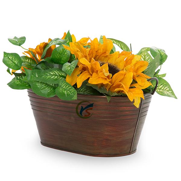 Bronze antique garden pot source quality bronze antique garden pot oblong bronze color antique metal garden flowers pots workwithnaturefo