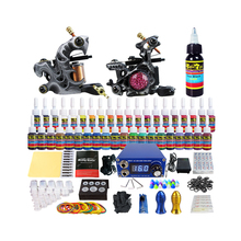 Solong Tattoo großhandel 2 und 40 Inks Needles Tipps Grips komplette tattoo kit