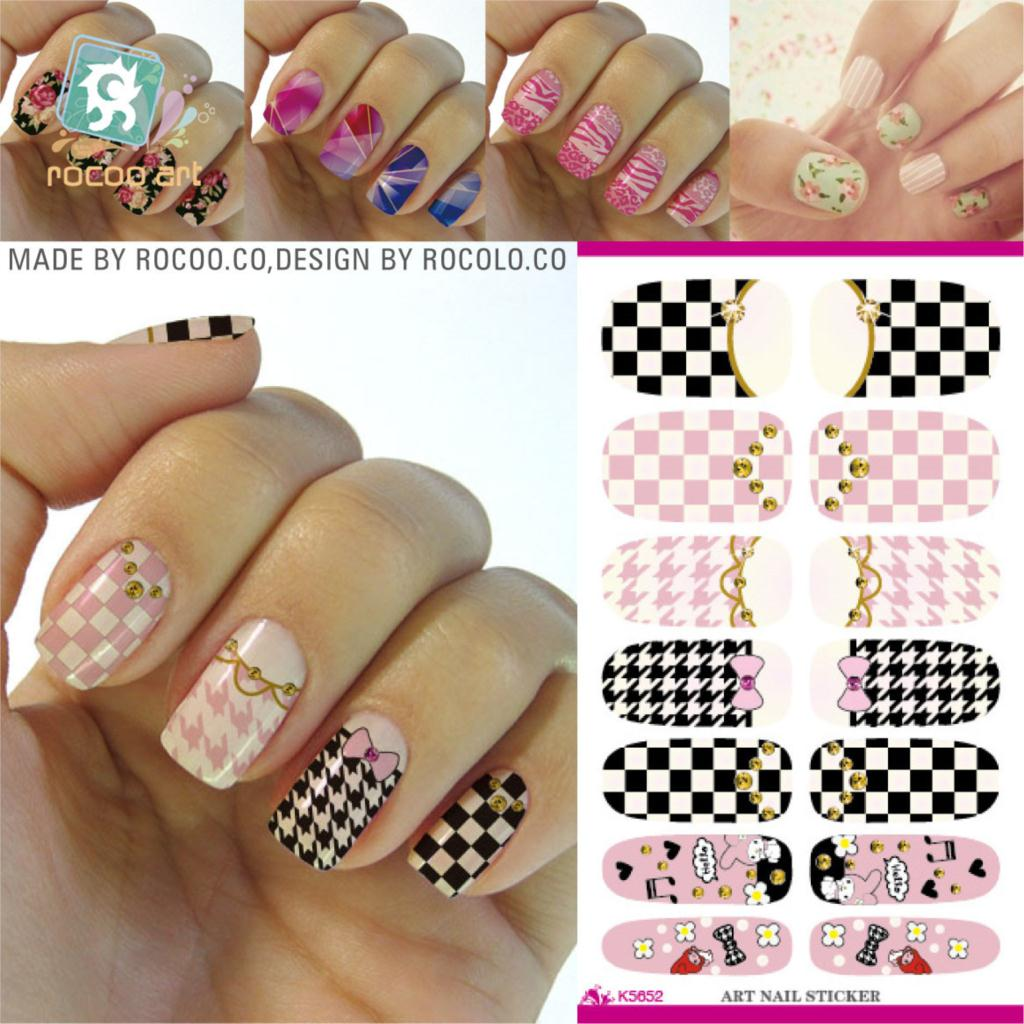 The new second generation Korean cartoon butterfly makeup water shift free nail polish nail stickers Manicure