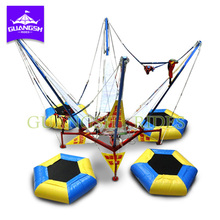 Passeios de carnaval animado cama Bungee <span class=keywords><strong>Trampolim</strong></span> com 4 Passeio no shopping center shopping