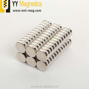 Super strong customized magnet mini silver bulk round disc cylinder rare earth neodymium magnet