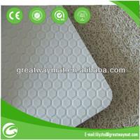 Vinyl loop hexagon backing anti slip floor mat