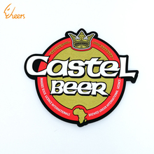 custom logo reusable easy cleaning coffee pad rubber coaster pvc cup mat