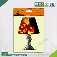 BSCI Factory Audit Halloween Removable Non Toxic Decorative Led Lamp Wall Decoration 3D Sticker