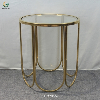 Simple Modern Living Room Furniture Round Glass Top Gold Stainless Steel Coffee Table Buy Stainless Steel Coffee Table Product On Alibaba Com