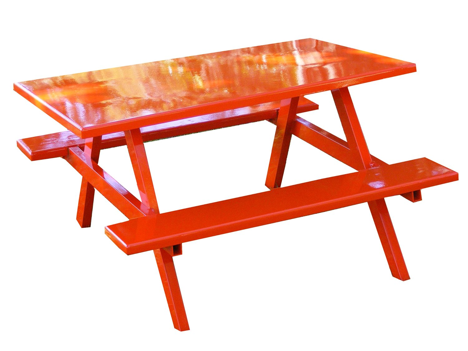 Get Quotations · Ofab Custom Theme Tables Kids Traditional Picnic Table,  Orange