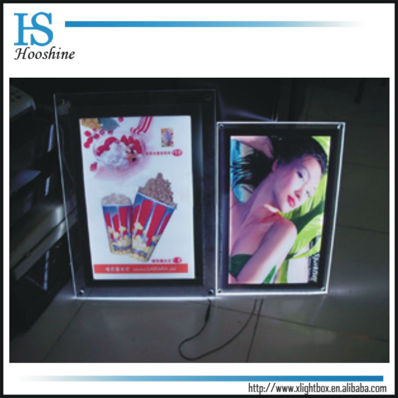 Best price: Single side or Double sidesLED crystal lightbox