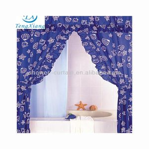 Print Double Swag Shower Curtain With Valance Suppliers And Manufacturers At Alibaba