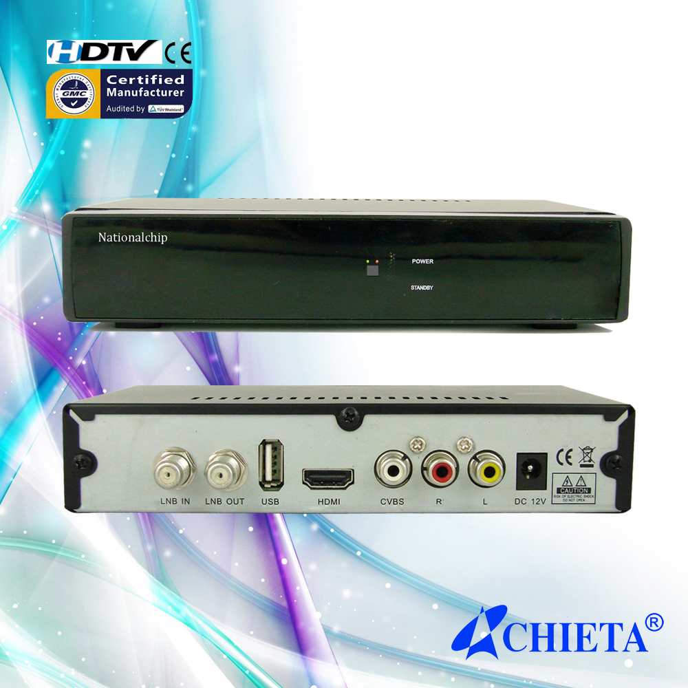 Fully Compliant DVB-S2 Standard Satellite TV Receiver 8Mb Flash with CPU 600Mhz Frequency