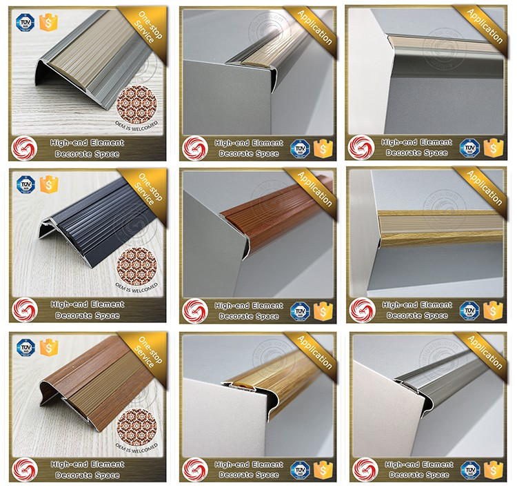 Exquisite Anti Slip Bullnose Stair Nosing With Rubber