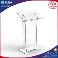 Yageli factory direct sale high quality pulpit designs customized acrylic pulpit / acrylic podium pulpit lectern