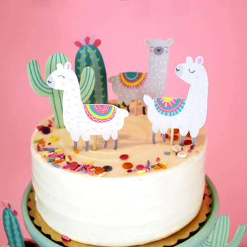 Terrific Multi Colors Alpaca Cupcake Topper Cake Flag Toppers For Hawaii Funny Birthday Cards Online Ioscodamsfinfo