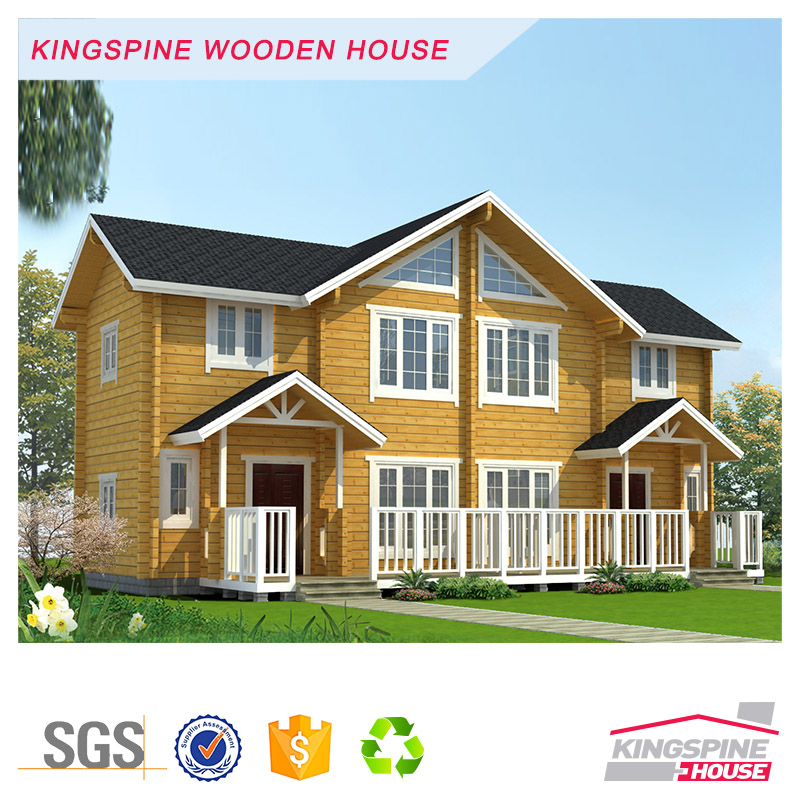 Prefabricated log cabin wooden house villa real estate for living modern style for sale