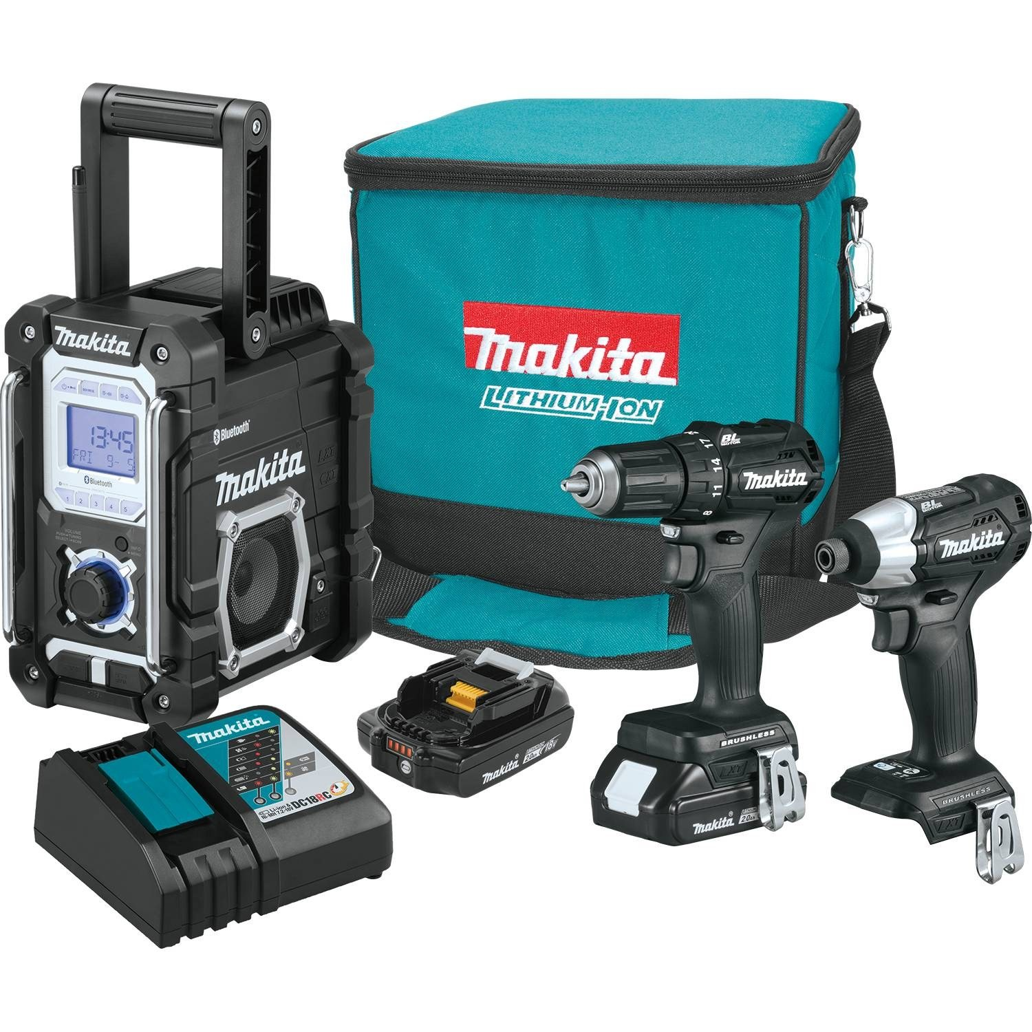 Makita CX301RB 2.0Ah 18V LXT Lithium-Ion Sub-Compact Brushless Cordless Combo Kit (3 Piece)