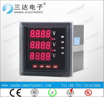 Rs485 Modbus 220v Terminal Wiring Diagram Digital Ammeter And Voltmeter on