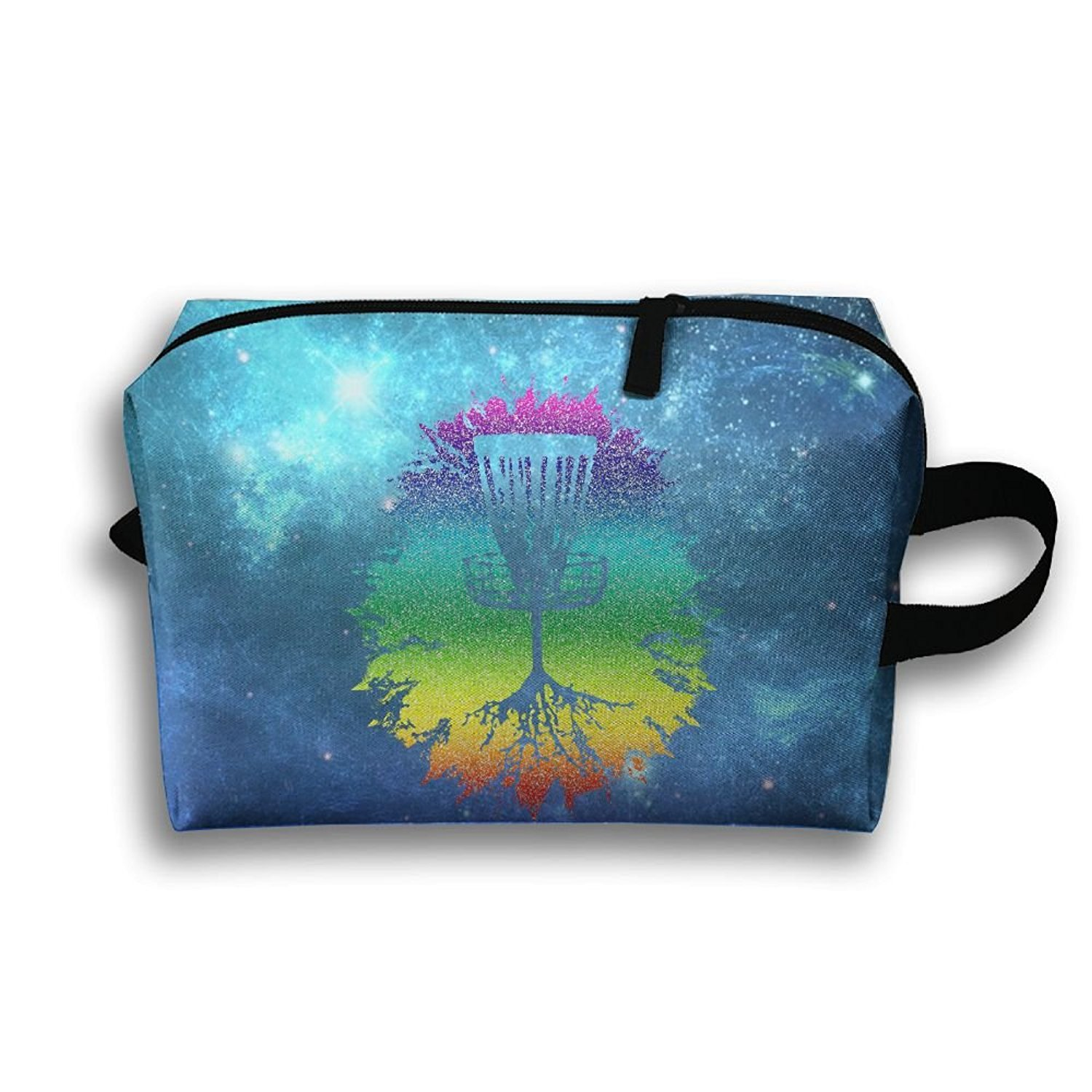 b2db4e59 Get Quotations · Rainbow Disc Golf Tree Roots Zipper Makeup Bags Storage  Bags Portable Ladies Travel Bags