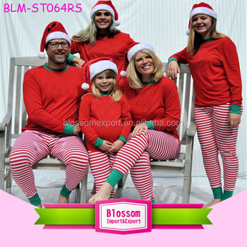 2017 hot sale stripes blanks matching family christmas pajamas wholesale christmas pajamas