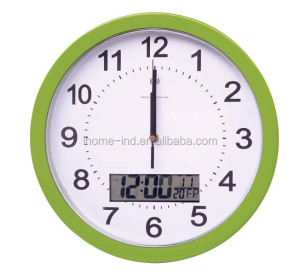 home decoration items Radio Control wall digital clock with lcd displayer