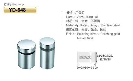 Stainless Steel Glass Spacer For Glass Table/glass Standoff From ...