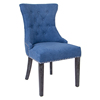 Elegant Tufted Nailhead Trim Dining Chair With Wood Legs