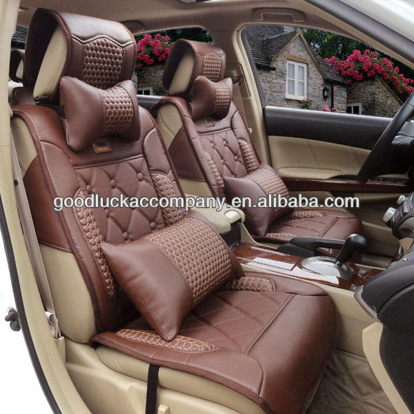 Fancy Genuine Leather Car Seat Cover Design
