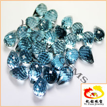 Teardrop Water Drop Faceted cut Synthetic Blue Spinel beads for sale