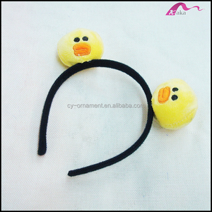 Adorable Cheap Handmade Fabric Yellow Birds Animal Headbands For Kids Fashion Accessories