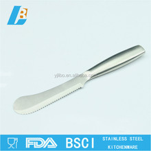 Round head stainless steel butter knife with wave blade LB-B-502