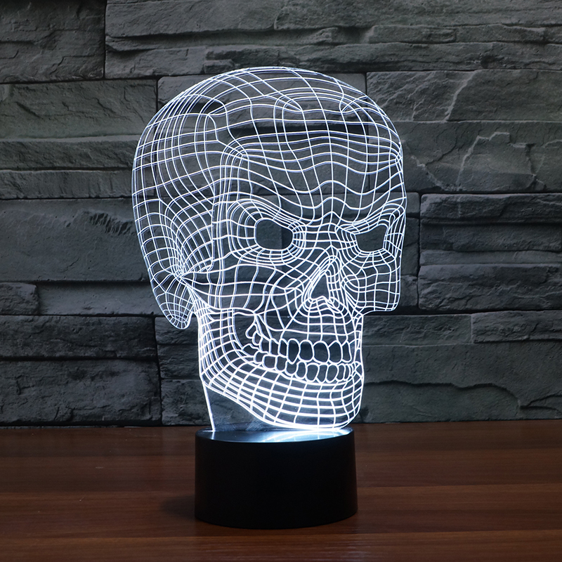 FS-3013 Skull 3D Illusion Led USB Lamp Colour Light